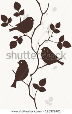 Find Pattern with birds seamless stock vectors and royalty free photos in HD. Explore millions of stock photos, images, illustrations, and vectors in the Shutterstock creative collection. Vogel Silhouette, Bird Silhouette, Bird Stencil, Damask Stencil, Paper Art, Paper Crafts, Stencil Patterns, Fabric Painting, Faux Painting