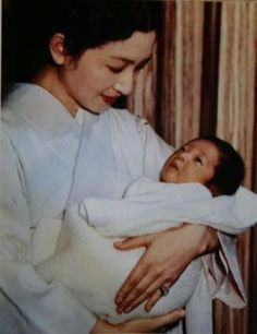 Crown Princess Michiko and Prince Fumihito in 1965