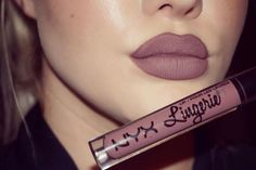 Favourite shade of @nyxcosmetics lip lingerie liquid lipstick in the shade embellishment