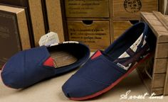Toms Shoes Navy Blue Flag Printing Womens Classics : Toms Outlet Online,Cheap Toms shoes, Toms outlet store online,which provide best toms shoes online.Toms shoes for women,toms shoes for kid on sale. Weird Fashion, Fashion Wear, Look Fashion, Womens Fashion, Fashion Trends, Fashion Shoes, Tokyo Fashion, Street Fashion, High Fashion