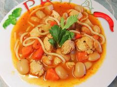 Olasz zöldségleves | Scriptum receptje - Cookpad receptek Scampi, Thai Red Curry, Shrimp, Soup, Ethnic Recipes, Soups