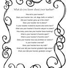 It is always fun to hear what your students will say in response to these questions about YOU!  A fun first day activity to help calm the nerves of...