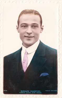 Rudolph Valentino Smiling. He Looks a Bit exhausted, which Makes him Look More Human, Less movie Star. Nice Photo !