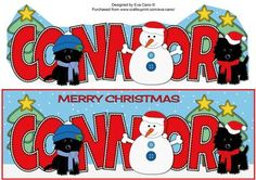 Christmas Jazz Dogs Snowman CONNOR large dl on Craftsuprint by Designer Eva Cano