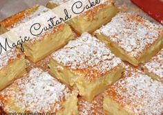 This Jelly Cakes CWA Recipe is a sweet treat you'll love to eat. They are a delicious old fashioned recipe that everyone loves. Make some today! Just Desserts, Delicious Desserts, Yummy Food, Sweet Recipes, Cake Recipes, Dessert Recipes, Egg Recipes, Casserole Recipes, Magic Custard Cake
