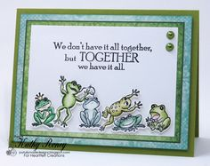 Leaping Frogs by rosekathleenr - Cards and Paper Crafts at Splitcoaststampers
