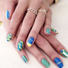 Looks we love: Alessandra Ambrosio's World Cup nail stickers