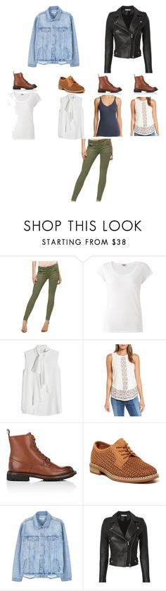 """""""green pants outfits"""" by maureenjeu ❤ liked on Polyvore featuring Sanctuary, Jigsaw, Alexander McQueen, Lucky Brand, Church's, Tommy Hilfiger, MANGO, IRO and Fine Lines"""