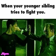 fighting, siblings GIF
