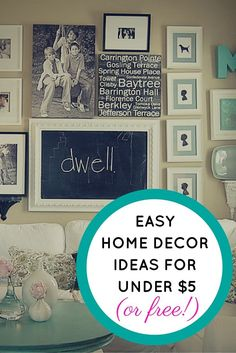 Home decor tips and tricks for those on a budget. Here are some really cheap ways to decorate your house without breaking the bank.