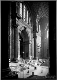 Original Penn Station, NYC  Station Waiting Room from North West. Designed by the firm McKim, Mead and White. Photographed by Cervin Robinson in 1962.    Building/structure dates: 1903 initial construction  Building/structure dates: 1963 demolished