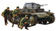 Panzer II durante la campaña de Polonia en 1939