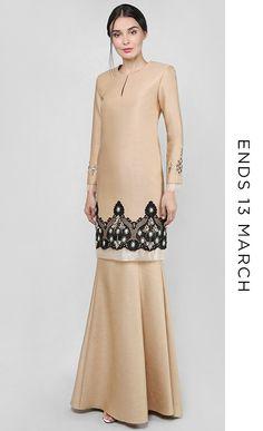 Azizah peanut brown TTA x JM Muslim Fashion, Hijab Fashion, Fashion Dresses, Modern Kebaya, Kebaya Dress, Brown Outfit, Pakistan Fashion, Muslim Women, Suit Fashion