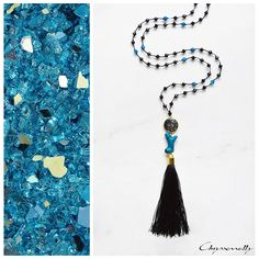 JEWELRY | Chryssomally || Art & Fashion Designer - Petrol blue coral and black agate boho chic tassel necklace Black Agate, Fashion Art, Fashion Design, Coral Blue, Tassel Necklace, Boho Chic, Jewelry, Jewlery, Jewerly