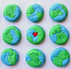 Earth cookies. Happy Earth Day! ✌❤