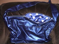This is a purse that I designed for myself.  I love BIG bags with a long strap...strap it on diagonally and go!  So glad I did this :)