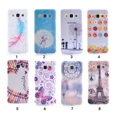 Soft TPU Cover Beautiful Dandelion Paris tower Pattern Phone Case For Samsung…