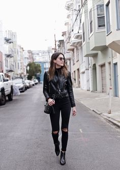 Black-Leather-Jacket-Black-Ripped-Jeans-900x1276