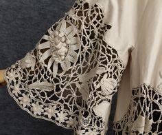 Edwardian Clothing at Vintage Textile: #2765 Irish crochet coat