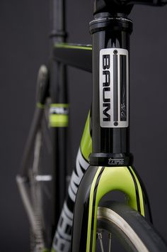 GTR Metallic Black, Venom Green, Corretto Track bike    by Baum Cycles, via Flickr