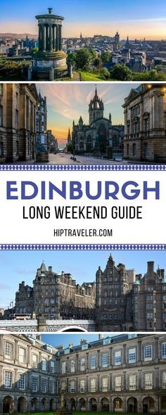 The ultimate 3-day guide to exploring Edinburgh, Scotland. Things to do, best restaurants for local food and cuisine, and unmissable bars and pubs. Travel in the United Kingdom. | Blog by HipTraveler #Edinburgh #Scotland