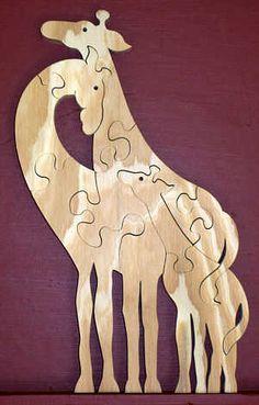 giraffe scroll saw patterns | Giraffe Scroll Saw Puzzle Pattern Pic #13