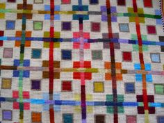 Needlepoint for the modern home Cross Stitch Borders, Cross Stitch Samplers, Modern Cross Stitch, Cross Stitch Flowers, Cross Stitch Charts, Cross Stitching, Cross Stitch Patterns, Bargello Needlepoint, Needlepoint Pillows