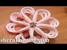 How to Сrochet Flower 8 Petals Tutorial 58 Stitches Worked Around Post. Each petal in this flower made on a base of a big chain space. To start the petal make single crochet stitches into the Crochet Puff Flower, Crochet Flower Tutorial, Crochet Flower Patterns, Crochet Art, Irish Crochet, Crochet Motif, Crochet Flowers, Crochet Stitches, Beginning Crochet