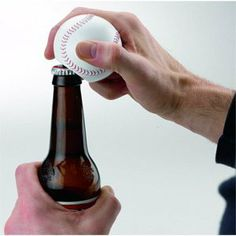 The Sports Lover's Talking Baseball Bottle Opener delivers witty remarks - loud and clear - every time you open a bottle. Get the good times rolling on game day Soccer Wedding, Witty Remarks, Cakes For Men, One Liner, Wine Time, Hot Sauce Bottles, Bubbles, Lovers, Good Things
