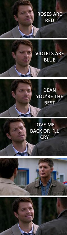 Oh, Cas I don't support Destiel but this is cute and funny.:)