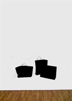 Untitled (Shopping Bags), 2014, acrylic on wall, variable dimensions