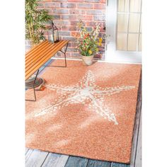 nuLOOM Handmade Coastal Giant Starfish Indoor/ Outdoor Terra Rug (4' x 6') | Overstock.com Shopping - The Best Deals on 3x5 - 4x6 Rugs