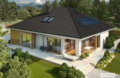Busca imágenes de diseños de Casas estilo moderno de Pracownia Projektowa ARCHIPELAG. Encuentra las mejores fotos para inspirarte y crear el hogar de tus sueños.