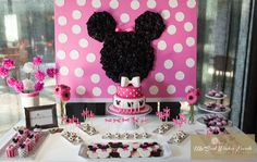 Minnie Mouse Party #minniemouse #party. Mia'a birthday