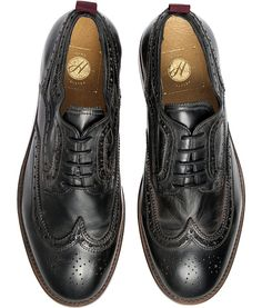 Men's Deacon (Black) Leather Brogue | H Shoes