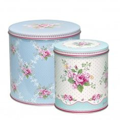 GreenGate Amy Round Tin Box Set Of 2