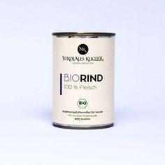 Bio Rind pur 400g  Nikolaus Kugler 4 Komponenten Futter Prinzip Rind, Candle Jars, Dog Food, Goat, Cats