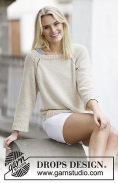 Sandy Shore Pullover By DROPS Design - Free Knitted Pattern - (ravelry)
