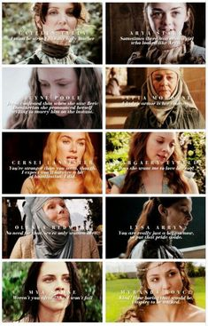 The women of asoiaf, and how they interact with Sansa.