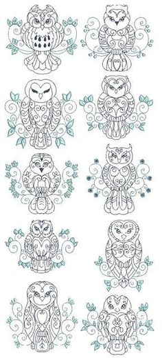 owls from Embroidery Passbook. It might be embroidery, but I'm thinking tattoo ;):
