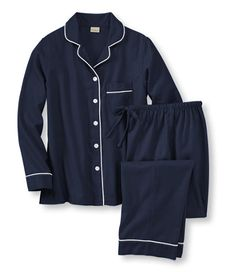 Pima Flannel Pajama Set: Sleepwear | Free Shipping at L.L.Bean.  I want these for Christmas.