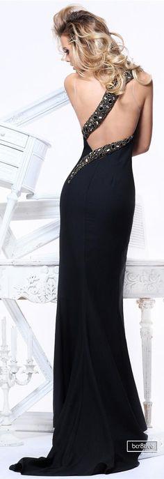 Tarik Ediz Black Sexy Gown 2013