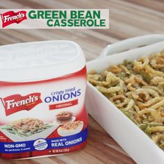A holiday favorite, Green Bean Casserole, is topped with French's Crispy Fried Onions. This classic Thanksgiving recipe is creamy, crunchy, and an overall hit with everyone!