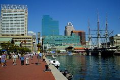 The harbor in Baltimore, MD is a great destination with museums, shopping, restaurants and a water taxi. Description from pinterest.com. I searched for this on bing.com/images
