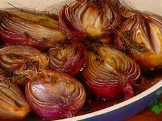 Roasted Red Onions with Butter, Honey, and Balsamic Vinegar