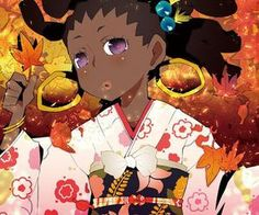 Dark Skin Anime Characters and Other Goodies Anime Kimono, Black Women Art, Black Art, Black Girls, Cartoon Drawings, Art Drawings, Black Anime Characters, Violet Eyes, China Girl