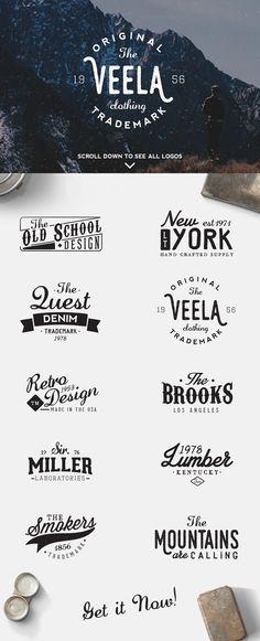 Logos & Elements Bundle - 50% OFF by Davide Bassu on Creative Market