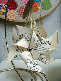 music pinwheel ornaments