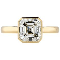 Engagement Ring Types, Rose Gold Engagement Ring, Vintage Engagement Rings, Asscher Cut Diamond Ring, Emerald Cut Diamonds, Diamond Cuts, Antique Rings For Sale, Contemporary Engagement Rings, Yellow Gold Rings