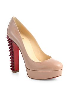 Christian Louboutin - Taclou Spiked Patent Leather Platform Pumps - Saks.com